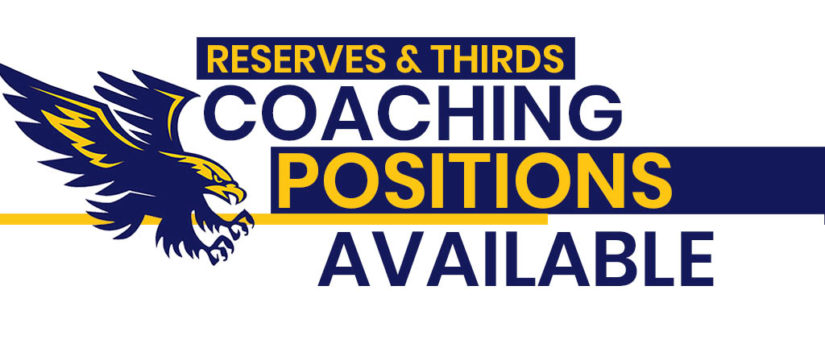 Coaching Positions Open for 2020