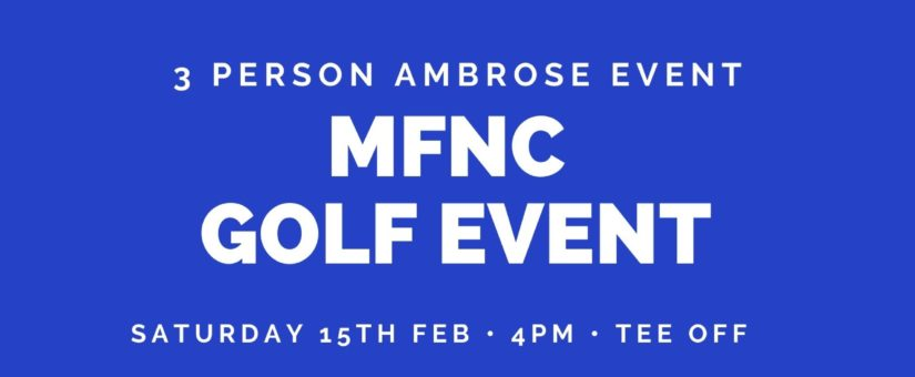 Mansfield Football Netball Club Golf Day 2020